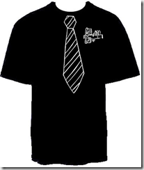 Black shirt (Big Web), Tie (Big IT)