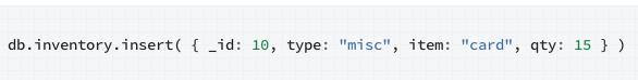 Document API-MongoDB